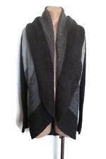New Bardot Women's Stripe Grey Knit Wool Jumper Sweater Jacket Size M