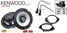 Kenwood KFC-1665S 6.5 Speakers + 1 Pair Front / Rear Adapters + Harness For GM