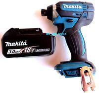 """New Makita 18V XDT11 Cordless 1/4"""" Impact Driver,(1) BL1830B Battery 18 Volt LXT"""