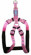 """Dog & Co Reflective Stars Pink Harness AND lead set 3/4"""" x 20-24""""/1.9 x 50-60cm"""