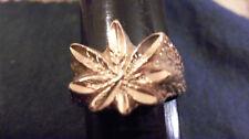 bling gold plated casino marijuana pot hash leaf finger ring hip hop size 12