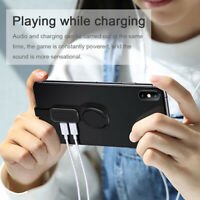Dual Ring Holder Adapter Audio & charging 180 Adjustable for iPhone iOS Adapter