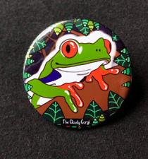 Psychedelic Tree Frog Pinback Button Amphibian Metal Pin Gifts and Accessories