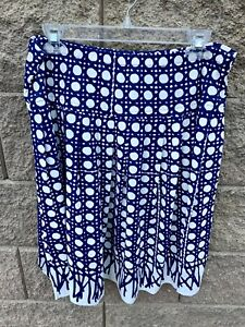 Vintage 1960s woman's Vera Neumann Blue Polka Dot Skirt size medium