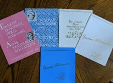 Lot of 5 Madame Alexander doll catalogs 1981, 1982, 1983, 1984, and 1986