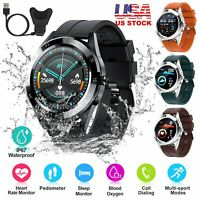 Smart Watch Fitness Tracker Blood Oxygen Heart Rate Monitor IP67 For Android iOS