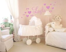GIRLS NAME Wall Stickers Bedroom Art Decal 3 SIZES Removable Personalised