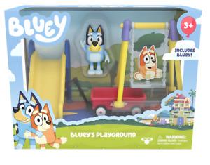 BLUEY'S PLAYGROUND Bluey & Friend's Mini Playset NEW