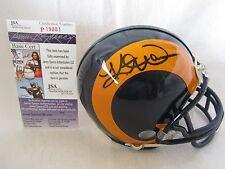 Kurt Warner Autographed St. Louis Rams Mini Helmet – JSA Cert