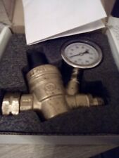Esright Brass Water Pressure Regulator 3/4 Lead-Free with Gauge for RV Camper Ad