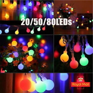 Solar Battery LED Garden Fairy String Lights Wedding Party Outdoor Indoor Lamp