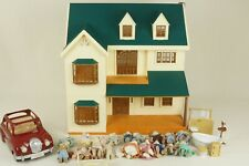 Calico Critters Sylvanian Families Deluxe Manor Epoch Green Hill House + Animals