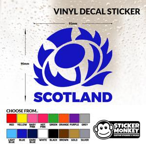 SCOTTISH THISTLE SCOTLAND CAR DECAL STICKER WINDOW BUMPER RUGBY JDM EURO LAPTOP