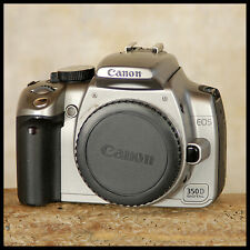 RARE Silver Canon EOS 350D Digital SLR Camera + charger battery FREE UK POST