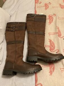 DUBARRY Longford Boots Ladies Waterproof Gore-Tex Leather Size 39/6