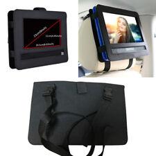 """Black Nylon Car Headrest Mount Holder For 9"""" Portable DVD Player Monitor Cover"""