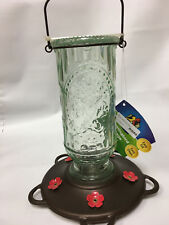 More Birds Hummingbird Feeder Vintage Antique Glass Bottle Copper 20 fl.oz.