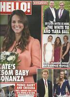 Kate Middleton Hello Magazine Elton John Prince Harry Pearl Lowe Tina Hobley