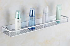 Bathroom Shower Shelf Square Basket Wall mount Storage Racks Space aluminum New