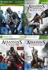 Xbox 360 Assassins Creed BUNDLE TEIL 1 + 2 + 3 + 4 Deutsch Top Zustand
