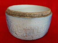 Antique Salt Glazed Stoneware Butter Crock - No Lid or Handle