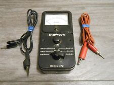 Megohmmeter Simpson 372 With Leads Works Perfectly