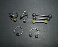 Rings, Spirals, Rings Body Jewelry 7 Surgical Steel Ball Barbells, Horseshoe