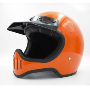 DOT Full face motorcycle helmet with shield vintage custom bike helmet