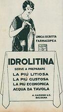 Y9821 IDROLITINA - A. Gazzoni - Bologna - Pubblicità d'epoca - 1927 Old advert