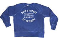 Zadig & Voltaire Rive Droite Gauche Women Sweater Sweatshirt Cotton Jersey Large