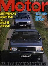 Motor - 23th June 1979 Peugeot 305 Renault 18 Under 17 Car Club Land Rover V8