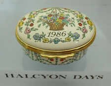 """Halcyon Days """"A Year To Remember"""" 1986 Floral Box  - >2""""(<5.25cms)"""