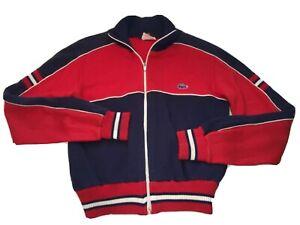 LACOSTE Vintage JG Youth Large Full Zip Knit Sweater Jacket 70's LS Izod EUC