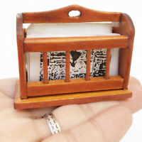 1:12 Miniature Newspaper Rack Cabinet Wooden Dollhouse Furniture AccessoriesJC3C