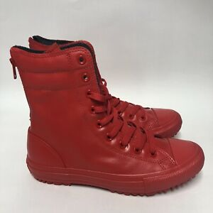 Converse Chuck Taylor Women's Hi-Rise Fashion Boot Rubber Red 549592C Size 8