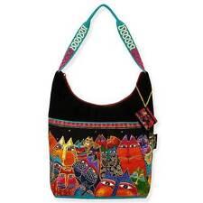 Fantasticats Laurel Burch Cat Medium Canvas Scoop Purse Tote Bag Handbag