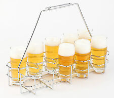Bierglasträger für 10 Gläser 0,2-0,3 Liter Verchromt Träger Bier