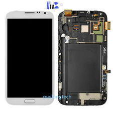 Für Samsung Galaxy Note 2 N7100 LCD Display+Rahmen Touchscreen Digitizer Weiß