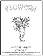 """Malbuch 53 Malvorlagen """" Blumen Nr.5 """" Ausmalbilder als PDF * Kinder malen"""