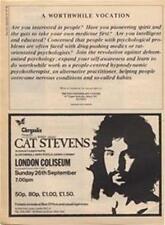 Cat Stevens Alun Davies London Coliseum concert advert Time Out cutting 1971