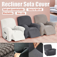 1 Seater Elastic Stretch Recliner Chair Slipcover Sofa Cover Protector Washable