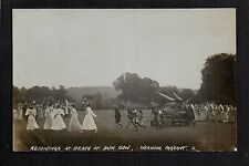 Warwick Pageant - Rejoicing at Death of Dun Cow - real photographic postcard