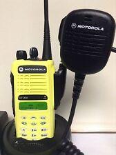 MOTOROLA HT1250 UHF 450-512 128ch radio AAH25SDH9AA6AN w/ Bat Charger Mic Xts Cp