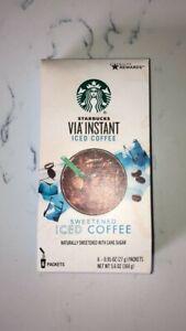 STARBUCKS VIA INSTANT ICED COFFEE BEVERAGE DRINK FRESH 5.6 OZ BOX 11/29/21