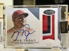 Mike Trout 2016  Auto Topps Dynasty 4 Color Patch 3/5