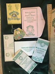 Cabbage patch Birth certificate papers , box and doll