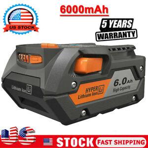 For Ridgid R840085 6.0Ah Lithium Battery Rigid 18Volt R840087 PACK Power Tools