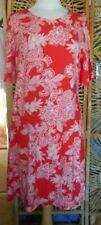 Attractive Orange & White M&S Collection Dress Size:14 BNWT £19.50