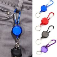 10x Heavy Duty Steel Cord Retractable Gear Reel Pull Key Ring Key Chain Key#co