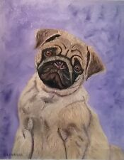 Canine oil painting pet portrait commission from your photo 40 x 50cm